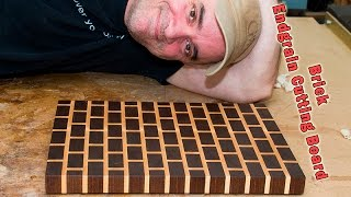 getlinkyoutube.com-Brick End Grain Cutting Board