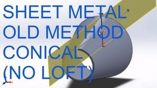 getlinkyoutube.com-E24 SolidWorks 2012 - Conical Sheet Metal - without lofting