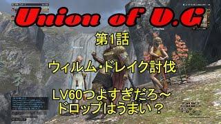 getlinkyoutube.com-【DDON】LV60ウィルム・ドレイク討伐【Union】第1話