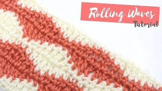 getlinkyoutube.com-CROCHET: How to crochet the Rolling Waves stitch | Bella Coco