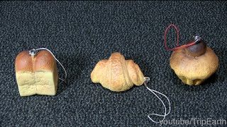 getlinkyoutube.com-Bread Capsule Toy,たべられそうでたべられないパンのマスコット