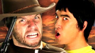 getlinkyoutube.com-Bruce Lee vs Clint Eastwood.  Epic Rap Battles of History Season 2.