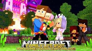 getlinkyoutube.com-Minecarft FAMILY LIFE #58 - WHO BURNED DOWN BABY LEAH'S PALACE?? Little Donny Custom Roleplay.