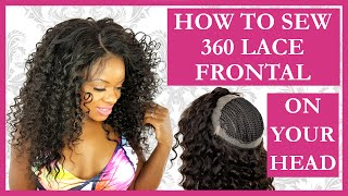 getlinkyoutube.com-360 Lace Frontal Install Tutorial Sew In Weave l NO GLUE l NO HAIR OUT