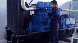 modified diesel engine run and work whit wood gas, 100 kWe, Popovo Town, Bulgaria