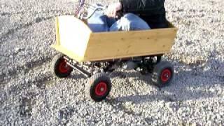 getlinkyoutube.com-Bollerwagen  Donuts Sachs Motor Hercules Mofa go kart.MOV