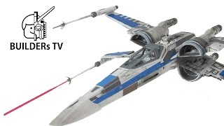 getlinkyoutube.com-RESISTANCE X-WING FIGHTER STAR WARS BANDAI Plamodel Fast Build Up (스타워즈 저항군 X윙, Xウイング レジスタンス仕様, T70)