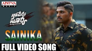 Sainika Full Video Song | Naa Peru Surya Naa illu India Songs | Allu Arjun, Anu Emmanuel