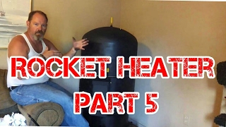 getlinkyoutube.com-Rocket Heater Wood Stove Installation Part 5 (The First Burn Indoors)