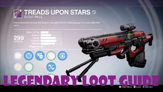"Destiny TTK Legendary Loot Guide - ""Treads Upon Stars"" Scout Rifle"