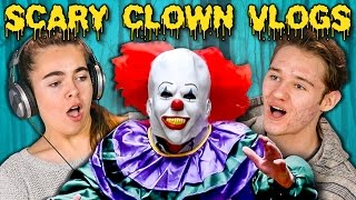 getlinkyoutube.com-TEENS REACT TO SCARY KILLER CLOWN DAILY VLOGS