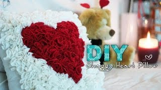 getlinkyoutube.com-DIY Shaggy Heart Pillow - Perfect for Valentines Day!