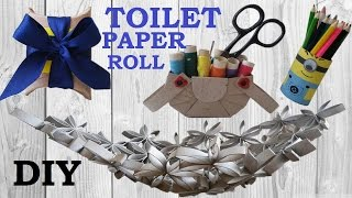 getlinkyoutube.com-10 DIY Toilet paper roll crafts - recycle - HOW TO!