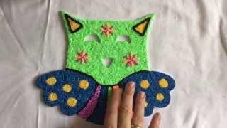 getlinkyoutube.com-Creatief: uil van foam klei, making a owl with foam clay