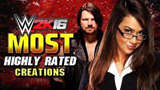 getlinkyoutube.com-WWE 2K16 Top 10 Highest Rated CAWS