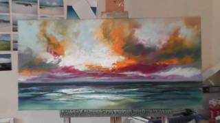 getlinkyoutube.com-Speed Painting: Landscape Painting Demo- 'Ocean Blue'