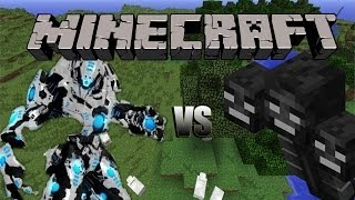 Minecraft: Mech vs Withers! Flan's Mod Showcase