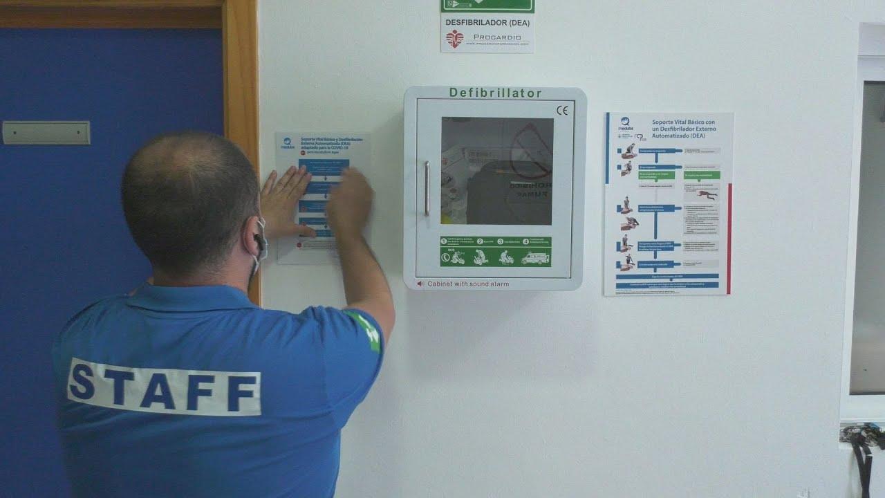 Revisión de desfibriladores en las instalaciones municipales
