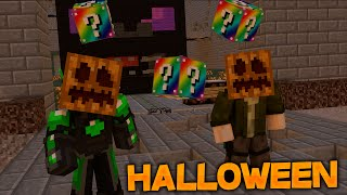 getlinkyoutube.com-Lucky Block's En HALLOWEEN!! - Willyrex vs sTaXx - Carrera épica Lucky Blocks