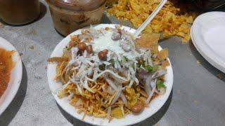 Aloo Chaat / Matar Chaat / Potato Chaat  | Indian Street Food 2016 By Hungers Choice