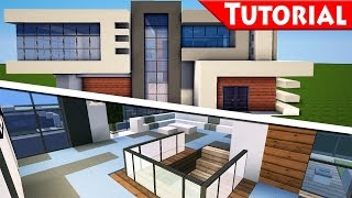 getlinkyoutube.com-Minecraft: Easy Modern House / Mansion Tutorial #9 - Part 2 Interior - How to Build + DOWNLOAD