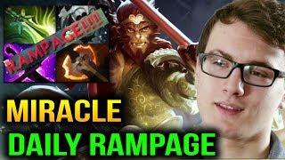 MIRACLE- DAILY RAMPAGE Monkey King 7.09 Dota 2