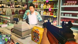 getlinkyoutube.com-GTA 5 Online: Robbing Everything Challenge!! | GTA Robbing Challenge! PS4  | GTA 5 Funny Moments
