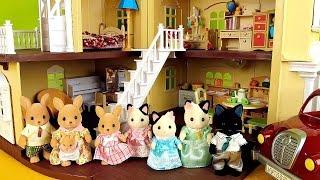 getlinkyoutube.com-Sylvanian Families - Kangaroo Family and Tuxedo Cat Family / Сильваниан Фэмилис Кенгуру и Котики