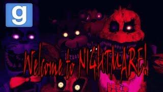 getlinkyoutube.com-Веселье в Garry's mod: FNAF 4 В GMOD! Five Nights at Freddy's (Minecraft Style)
