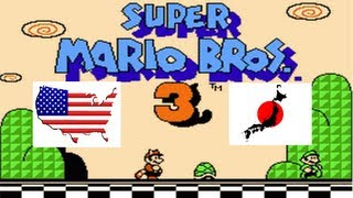 getlinkyoutube.com-Super Mario Bros 3 English VS Japanese Comparison (USA Vs Japan) on the NES & Famicom Game Console