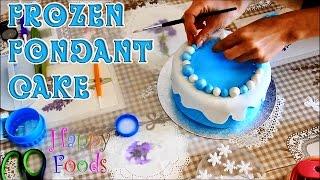 getlinkyoutube.com-How to make a Disney Frozen Fondant Icing Cake   HappyFoods