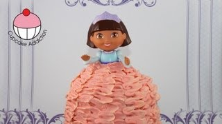 getlinkyoutube.com-Dora Princess Cake -- Dora The Explorer Giant Cupcake Princess Cake by Cupcake Addiction