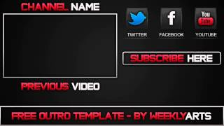 getlinkyoutube.com-Outro #2 - Old School Outro Template (After Effects)