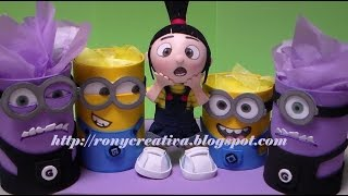 getlinkyoutube.com-MINIONS DULCERO-PORTALAPIZ / IDEA ORIGINAL DE RONYCREATIVA - DESPICABLE ME PARTY IDEAS DIY