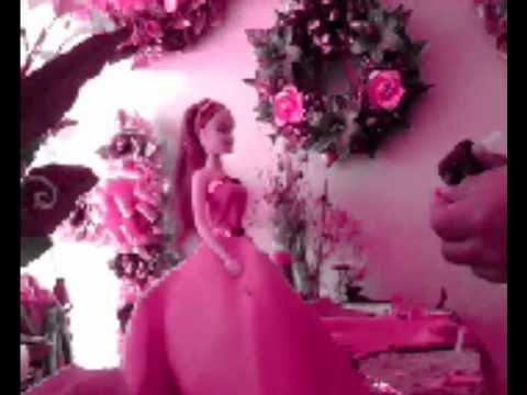 como hacer un centro de mesa con muñeca (tipo barbie)