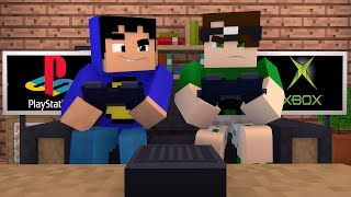 getlinkyoutube.com-Minecraft: PLAYSTATION VS XBOX! (Build Battle)