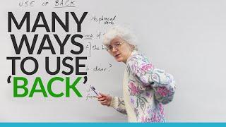 getlinkyoutube.com-English Vocabulary: Many ways to use the word 'BACK'