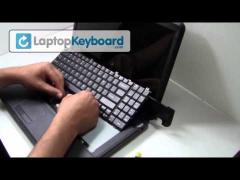 LENOVO G550 Keyboard Installation Replacement Guide Laptop - Remove Replace Install G555