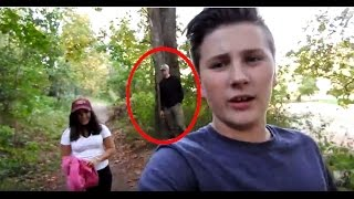 A creepy guy on the trail - Creepiest Hike Ever - #1