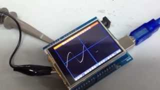 getlinkyoutube.com-Arduino LCD Osciloscopio DEMO
