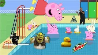 MLG PEPPA PIG GOES TO THE SWIMMING POOL!