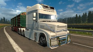 getlinkyoutube.com-Euro Truck Simulator 2. Мод: DAF XT. Не плохо. (Ссылка в описании)
