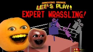 getlinkyoutube.com-Annoying Orange Let's Play EXPERT WRASSLING! w/ Midget Apple