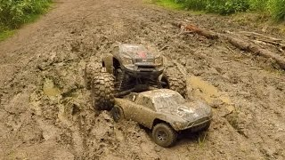 getlinkyoutube.com-Traxxas X-Maxx & Slash, Mud Bash!