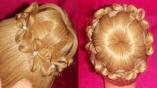 PEINADO - Cebolla / Chongo de Flores | Bun Flowers Hairstyle - ViriYueMoon