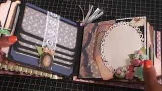 getlinkyoutube.com-Shabby chic mini album swap with Crafty Malika