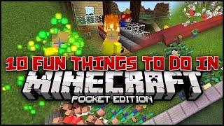 getlinkyoutube.com-10 Fun Random Things to do in Minecraft PE (Pocket Edition)