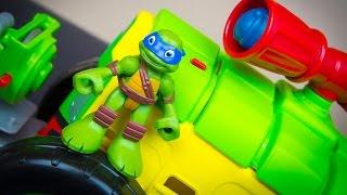 getlinkyoutube.com-Teenage Mutant Ninja Turtles Half-Shell Heroes Shellraiser Leonardo Ninja Turtle Toys