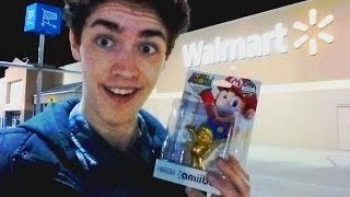 getlinkyoutube.com-Getting Golden Mario Amiibo at Midnight!