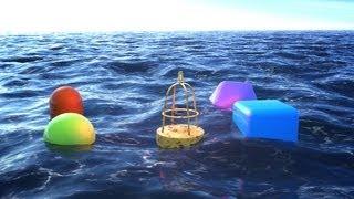 getlinkyoutube.com-Cinema 4D Ocean: Floating Objects in water using C4D & Infinite Ocean